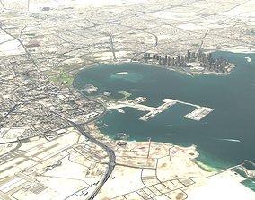 architecture 3D Doha City Qatar