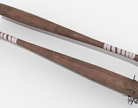 3D asset Survival Kit - Baseball Bats with Nails