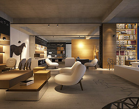 3D Models detailed office showroom