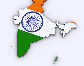 3D model Map of India