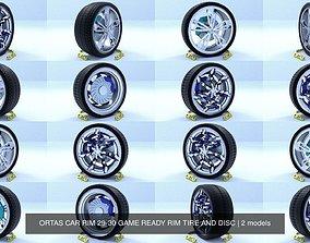 ORTAS CAR RIM 29-30 GAME READY RIM TIRE AND DISC 3D model