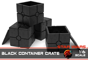 3D print model Star Wars black container crate 1-6 scale