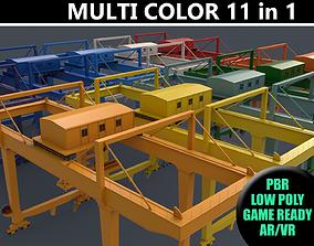 PBR Rail Mounted Gantry Crane RMG V2 - Multi color 3D