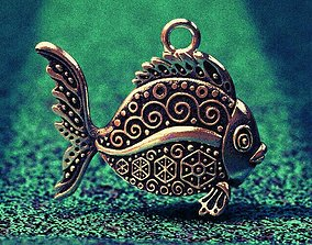 Solar pattern fish 3D printable model nature