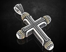 Native cross with heraldic lily 328 3D print model
