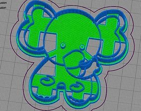 Elephant Cookie Cutter 3D printable model