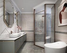 Modern light luxury Bathroom 3D MODLE