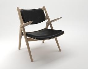 3D model Carl Hansen Son Chair Leather