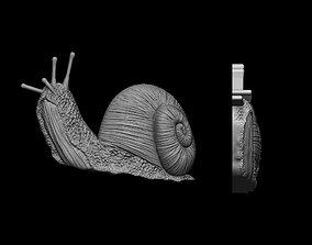 Snail pendant 3D print model