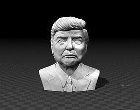 3D printable model Portrait bust of Donald Trump