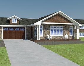 exterior house 3D model yard