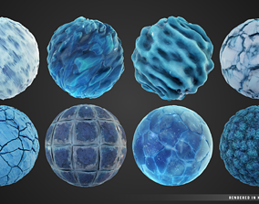 Stylized FrozenCave Material Pack 3D