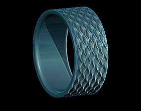 3D printable model Ring desert waves