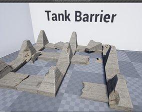 3D model Low Poly Tank Barrier