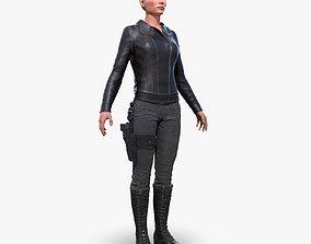 3D model Female Agent Character
