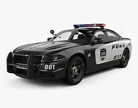 Dodge Charger Police with HQ interior 2015 3D
