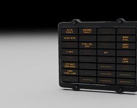 F16 Caution Panel 3D model
