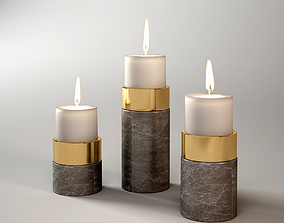3D CANDLE HOLDER SIERRA SET OF 3 Eichholtz