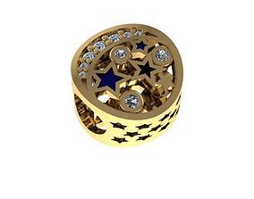 star painted night charm ball 3D printable model