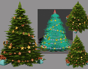 winter Christmas tree 3D model