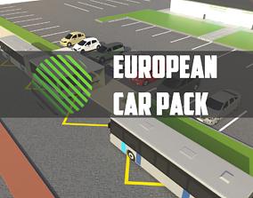 3D model european car pack