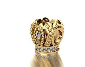3D print model Queens crown charm ball