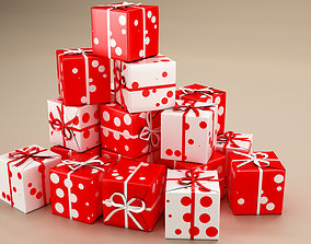 New Year Presents and Gift Boxes v2 3D model