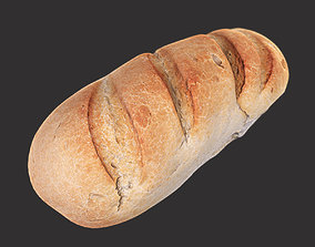 3D asset White Loaf of Bread