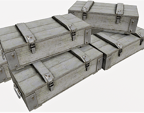 Ammunition Wood Crates 03 - PBR 3D asset