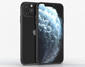 Apple iPhone 11 Pro Space Gray 3D model