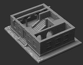 3D printable model shield Medieval house