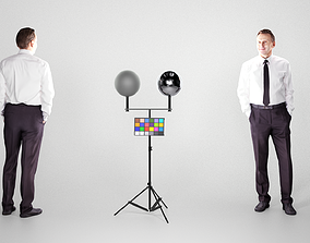 3D model low-poly Adult respectable man in a suit 193
