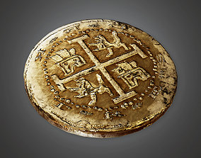 3D model TRS - Ancient Treasure Coin 01 - PBR Game Ready