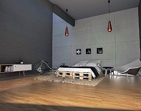 3D asset Cozy room