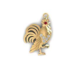154 Kute Cock Pendant 3D printable model