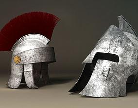 3D Spartan and Roman Helmet