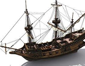 Golden Hind naval 3D