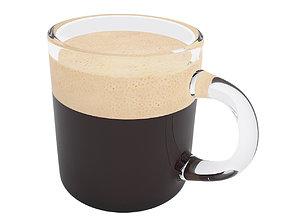 Coffee glass mug 2 3D