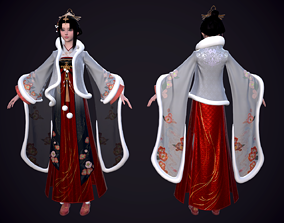 3D asset Ancient Chinese Beauty Ancient maid 4