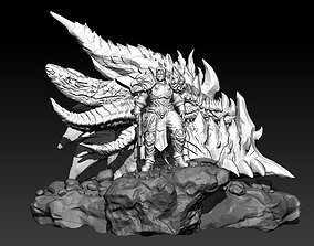 Fan Art - Varian Wrynn and Deathwing 3D print model 1