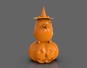 Pusheen eating Pumpkin Pie 3D Sculpt