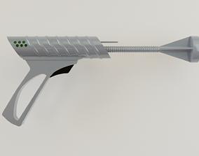 3D model low-poly scifi guns