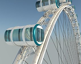 3D Singapore Flyer Detailed Model Ferris Wheel model
