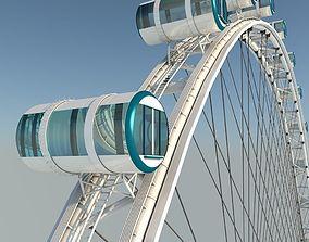 3D Singapore Flyer Detailed Model Ferris Wheel model