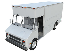 3D asset PBR Chevrolet P30 Step Van 1991