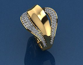 silver fashion-ring Gold Ring 3D print model