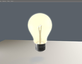 Light bulb 3D top