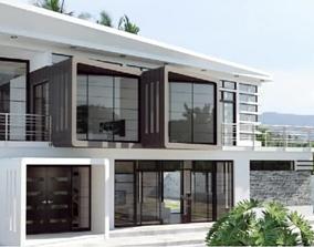 parapet Modern house 3D