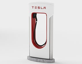 Tesla Supercharger avto 3D model
