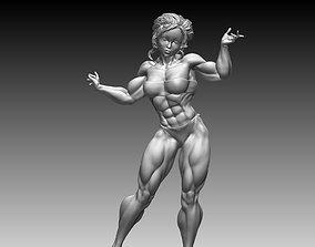 Sculpture Woman Body Builder 3D print 3D model